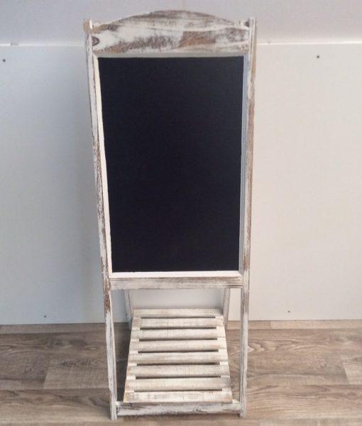 Kreidetafel mit Holzgestell, 41x42x116 cm